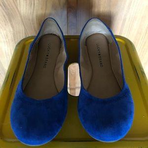 Blue Suede Flats